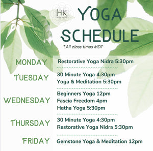 NEW Virtual Yoga Schedule - Starts June 15!