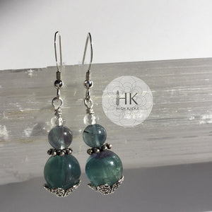 ::BLUE FLUORITE:: Earrings - HK HIGH KICKS