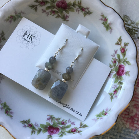 ::LABRADORITE:: Earrings - HK HIGH KICKS