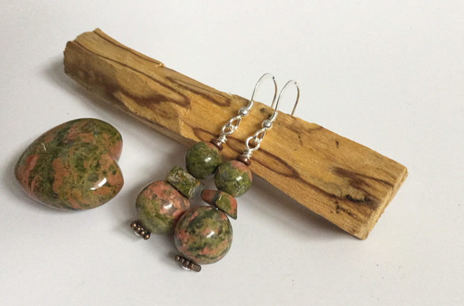 ::BALANCING:: UNAKITE Earrings - HK HIGH KICKS
