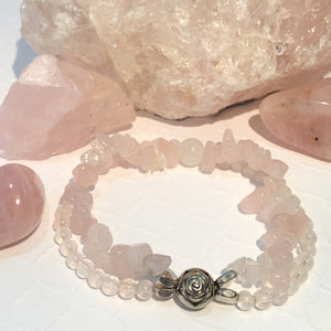 ::ROSE QUARTZ:: Bracelet - HK HIGH KICKS