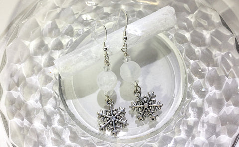 ::QUARTZ & SELENITE:: Earrings & Gemstone Set - HK HIGH KICKS