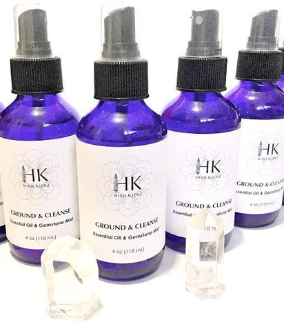 ::HK Ground & Cleanse:: Essential Oil & Gemstone Mist - HK HIGH KICKS