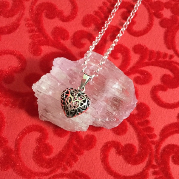 ::Heart:: Pendant with Sterling Silver Chain - HK HIGH KICKS