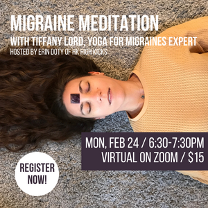 Migraine Meditation & Gemstones - Virtual Workshop - HK HIGH KICKS