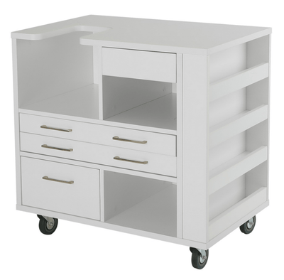 Arrow Cabinets and Tables Arrow Ava Cylinder Bed Embroidery Machine Cabinet In White
