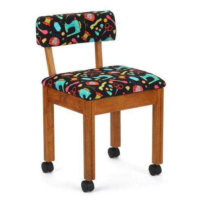 Arrow Sewing Chairs Arrow Sewing Chairs in Oak, Blue or Red