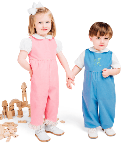 Children's Corner Patterns Children's Corner CC244 Paulie Button On The Shoulder Romper Pattern