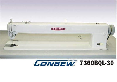 "Consew Industrial Machines Consew 7360BQL-30  Long Arm 30"", Single Needle, Drop Feed, Lockstitch Machine"