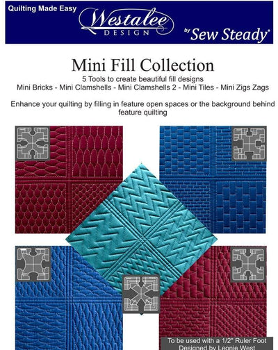 Sew Steady Quilting Accessories Westalee Design By Sew Steady Leonie West NEW Mini Fills Collection Set Of  Quilting Templates