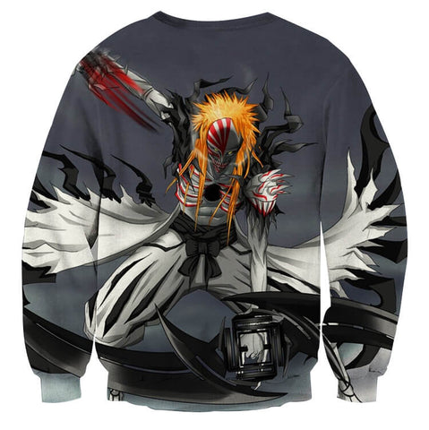 BLEACH - GRAY HOLLOW FROM 2 ICHIGO (LONG SLEEVES) - 3D LONG SLEEVES