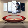 Image of Attack On Titan Eren Blood Shedding 3D Printed 5 Piece Wall Canvas