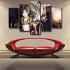 Image of ATTACK ON TITAN - EREN 5 PANEL CANVAS - 3D PRINTED CANVAS