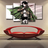 Image of ATTACK ON TITAN - CAPTAIN LEVI 5 PANEL WALL CANVAS - 3D PRINTED CANVAS