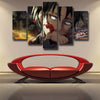 Image of Attack on Titan Eren Blood Sword 3D Printed 5 Panel Wall Canvas