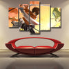 Image of Attack on Titan Eren Survey Corps 3D Printed 5 Piece Wall Canvas