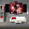 Image of Attack On Titan Mikasa Ackerman 3D Printed 5 Piece Wall Canvas