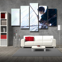 Attack On Titan Eren Blood Shedding 3D Printed 5 Piece Wall Canvas