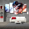 Image of Attack on Titan Eren Titan Form 3D Printed 5 Piece Wall Canvas