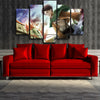 Image of Attack On Titan Captain Levi 3D Maneuver Gear 3D Printed 5 Piece Wall Canvas