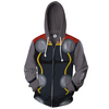 Image of Thor The Dark World Anime Zip Up Jackets - 3D Black Armour Hoodie