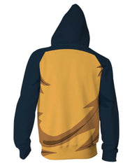 One Piece Anime Zip Up Jackets - 3D Armour Hoodie