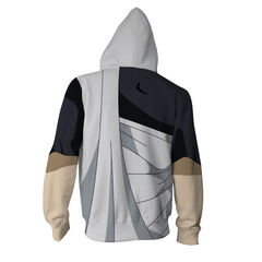 Fairy Tail Anime Zip Up Jackets - 3D White Armour Hoodie