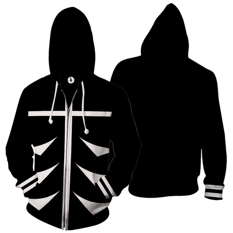 Tokyo Ghoul - Anime Zip Up Jackets - 3D Armour Hoodie