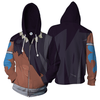 Image of Fairy tail - Acnologia Zip UP Anime Hoodie - 3D Printed Clothing