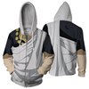 Image of Fairy Tail Anime Zip Up Jackets - 3D White Armour Hoodie