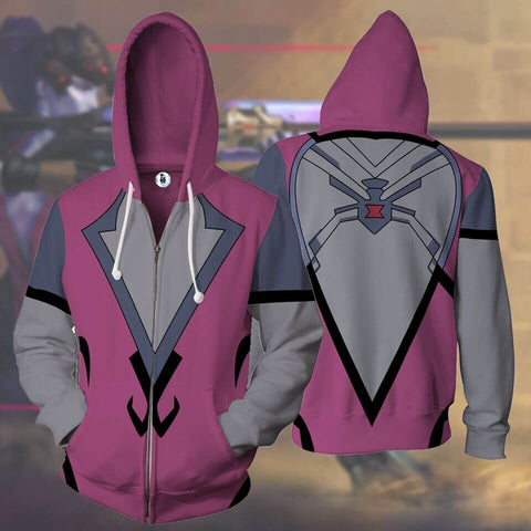 WIDOWMAKER- Zip UP Anime Hoodie - 3D Printed Clothing