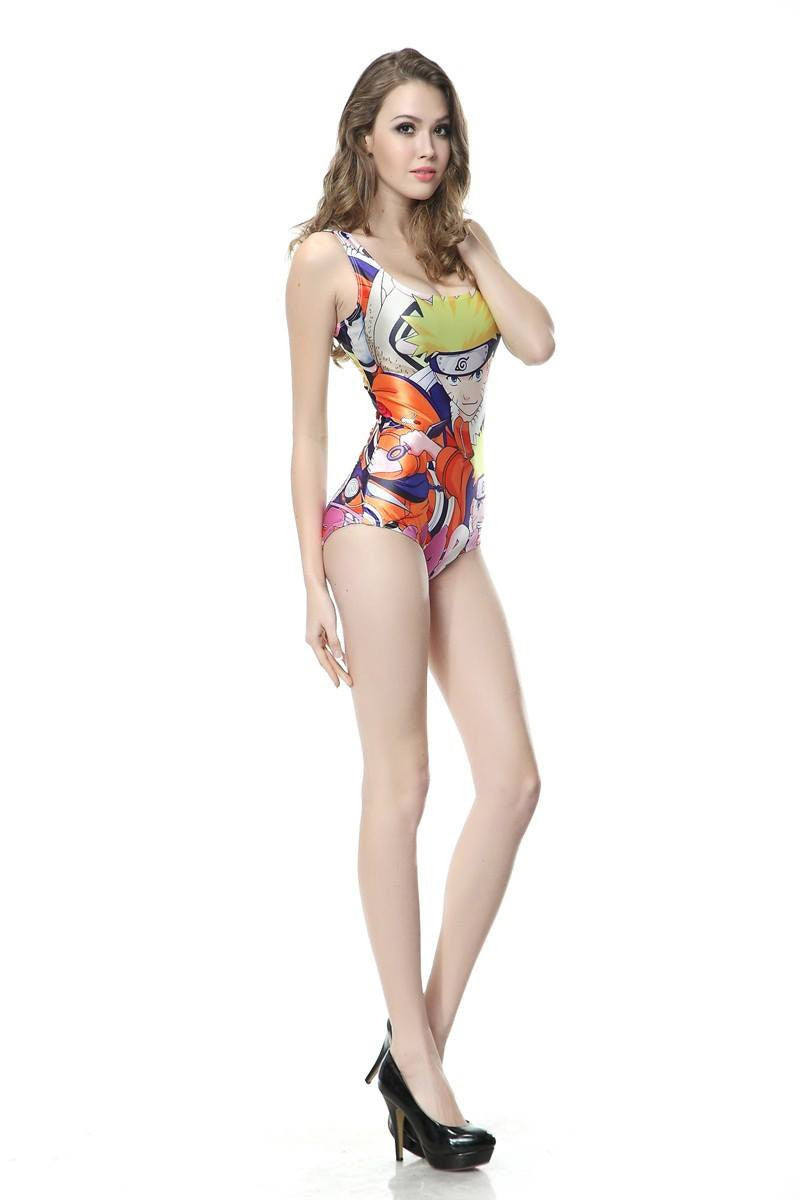Naruto Women Beach Wear Digital Printing Swimwear