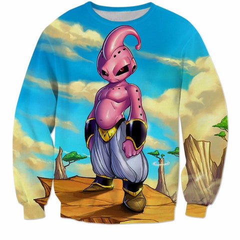 DRAGON BALL Z - KID BUU  (LONG SLEEVES) - 3D PRINTED LONG SLEEVES