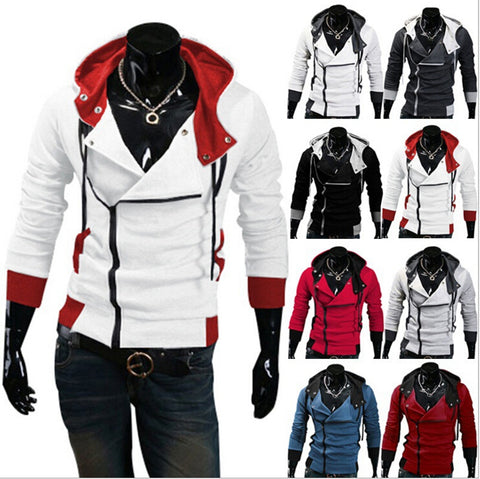 Assassin's Creed Jacket - Men Fashion Casual Slim Cardigan - Assassins Creed Hoodie Boys
