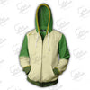 Image of AVATAR THE LAST AIRBENDER HOODIE - TOPH ZIP UP HOODIE - GREEN 3D JACKET