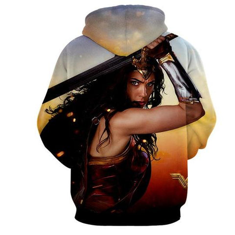 Wonder Women 3D Hoodie 2017 - Wonder Women Clothing - Jacket
