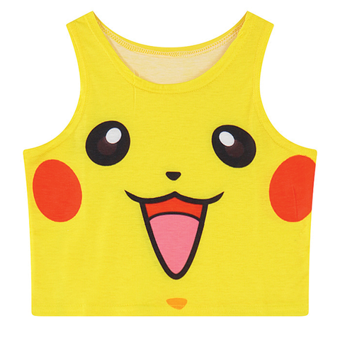 Pikachu 3D Printed Crop Top