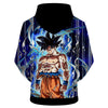 Image of DRAGON BALL Z HOODIES - ULTRA INSTINCT GOKU BLACK COLOUR HOODIE - DBZ 3D PRINTED HOODIE
