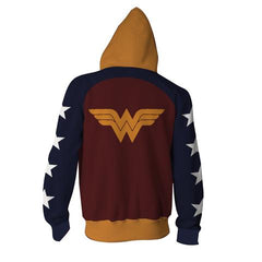 WONDER WOMAN HOODIE ZIPPER - 3D ARMOUR JACKET