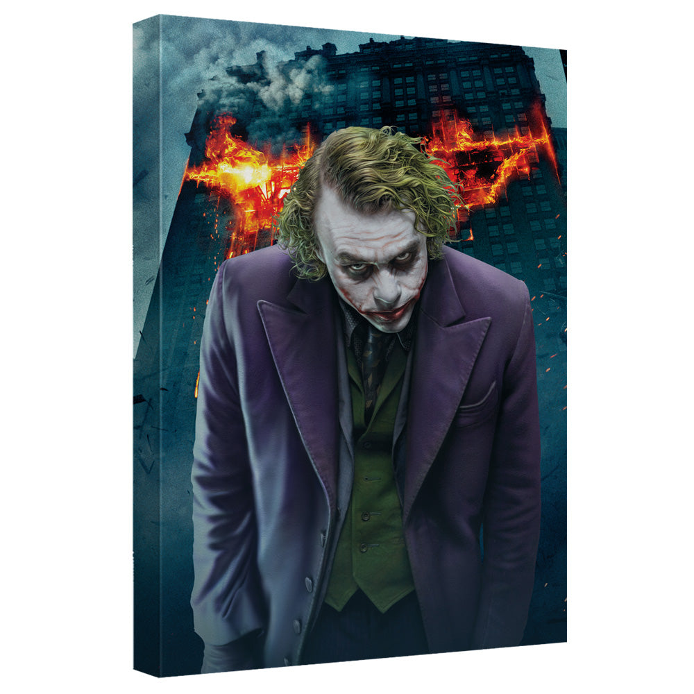 Dark Knight Trilogy - Agent Of Chaos Canvas Wall Art With Back Board