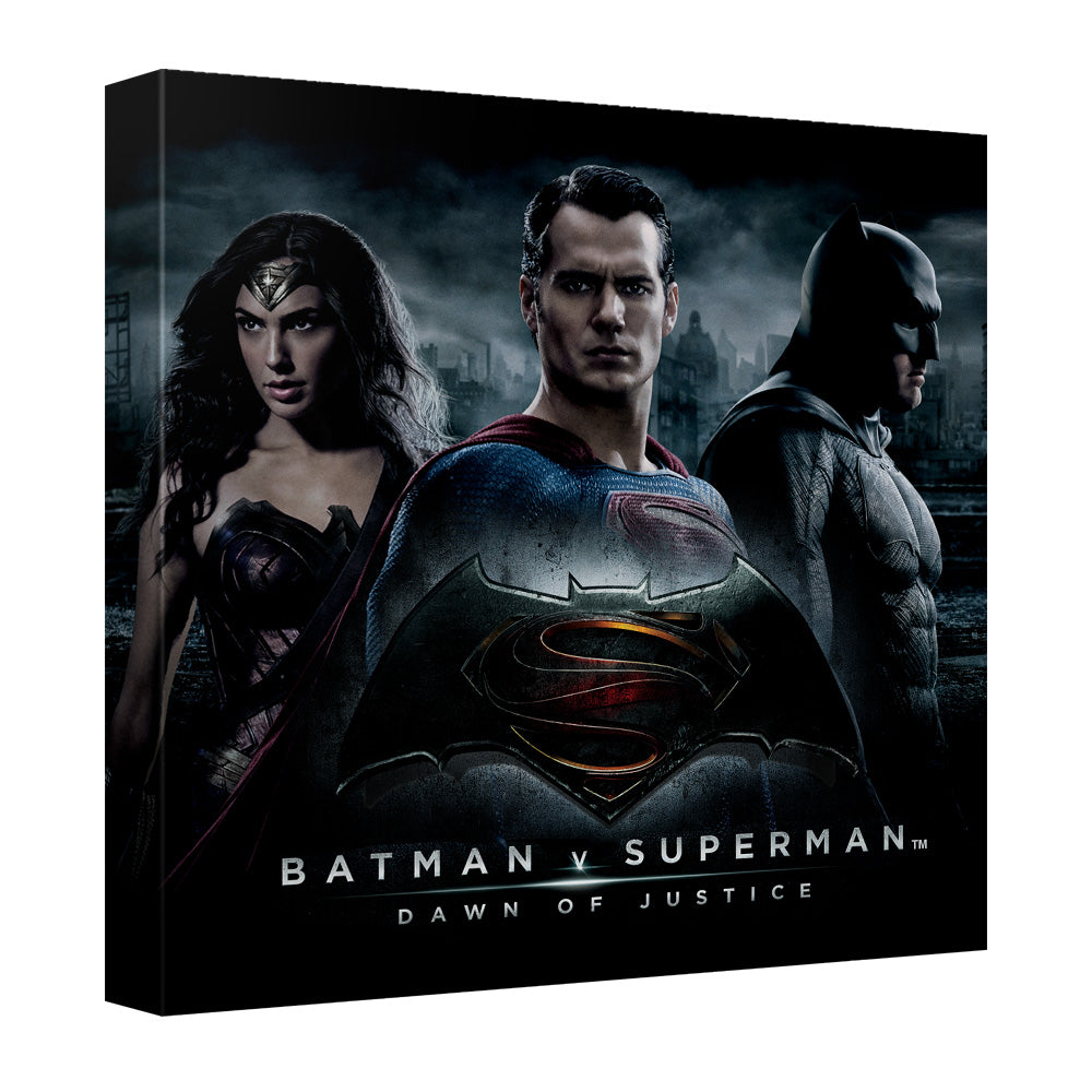 Batman V Superman - Justice Colleagues Canvas Wall Art With Back Board