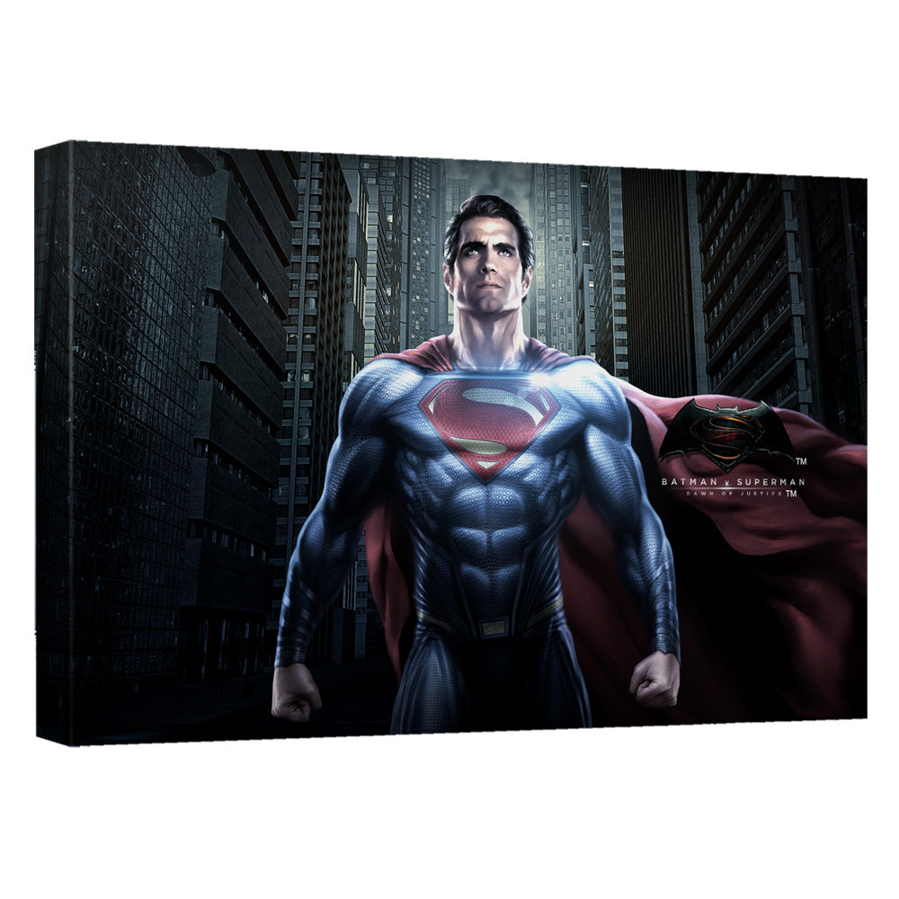 Batman V Superman - Superman Ground Zero Canvas Wall Art With Back Board