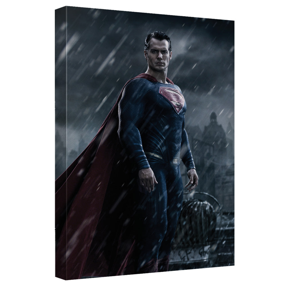 Batman V Superman - Superman In The Rain Canvas Wall Art With Back Board