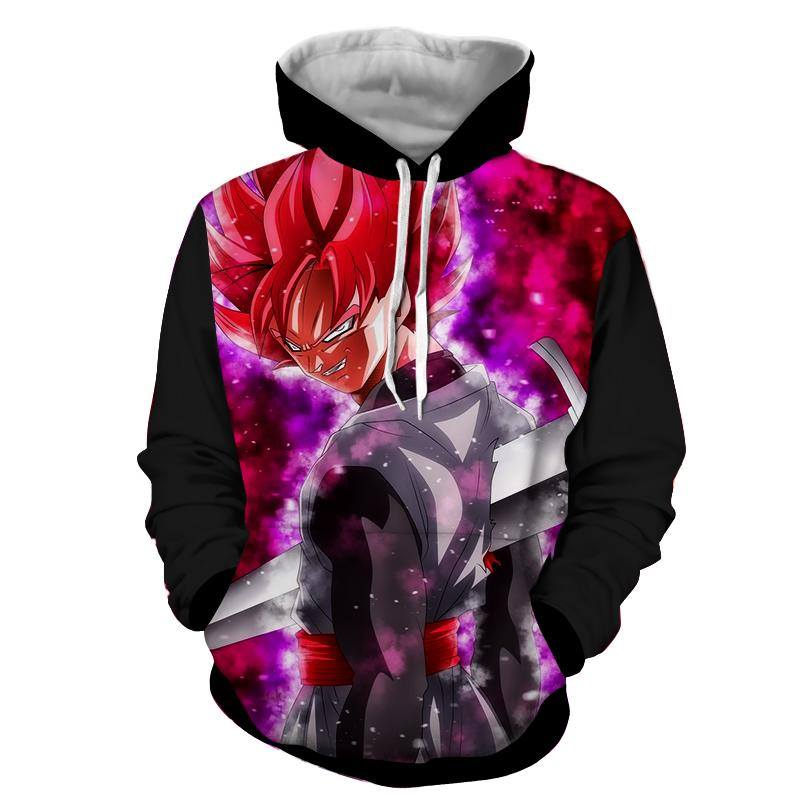 ROSE GOKU BLACK - DRAGON BALL SUPER PULLOVER 3D ANIME HOODIE - DRAGON BALL SUPER CLOTHING