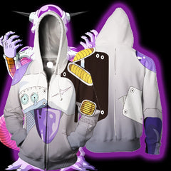 DRAGON BALL SUPER - MECHA FRIEZA 3D ARMOUR ZIP UP HOODIE - DBZ CLOTHING