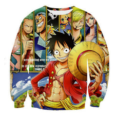 ONE PIECE STRAW HATS RE-UNION 3D LONG SLEEVE SHIRT - ONE PIECE CLOTHING - ANIME HOODIES AND SHIRTS