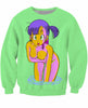 Image of DRAGON BALL Z - SEDUCTIVE BULMA (3D LONG SLEEVES T-SHIRT) - 3D PRINTED LONG SLEEVES