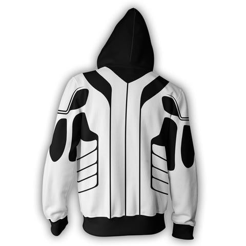 ICHIGO FULLBRING FORM ARMOUR ZIP UP HOODIE - 3D WHITE JACKET