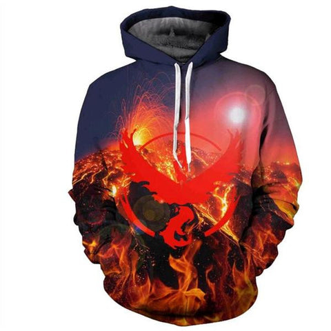 POKEMON GO SUNSET PULLOVER HOODIE - ANIME HOODIES AND SHIRTS
