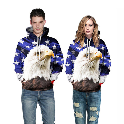 Newest Style USA Eagle Sweatshirt Hoodies - 3D Printed Hoodies - Pullover Jacket